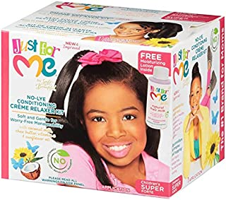 Just For Me No-lye Conditioning Creme Relaxer Super Kit