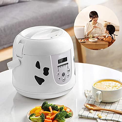 Olla arrocera multifunción 2L Mini olla arrocera 400W Horno eléctrico Fiambrera Calentador de alimentos multifunción portátil para cocinar arroz, gachQF de avena, huevos nutritivos, A