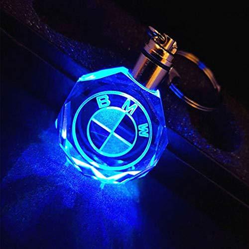 Fitracker LED Car Keychain Crystal Light Changing Car Key Chain