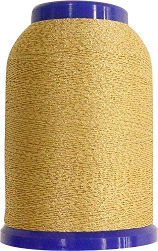 Wollige Leclame naaigaren (voor lock naaimachine) 25 g col 504 beige x goud