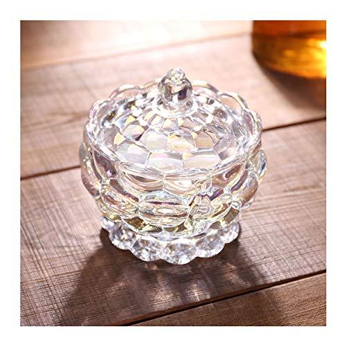 LYQZ Multifunzione Chiaro Trasparente Zucchero Vetro, Sweet Candy Box con Coperchio, 16,0 Centimetri x 15,0 Centimetri