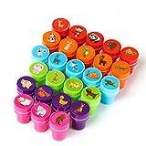 Kesote Set di Timbri per Bambini Stile di Animali Timbri di Plastica Auto Inchiostrazione Perfetto per Fai-da-Te, Set di 26 Pezzi