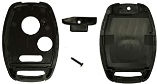 Replacement Key Fob Shell Fit for Honda Accord Crosstour Civic Odyssey CR-V CR-Z Fit 3 Buttons Keyless Entry Remote Case Car Key Housing (Casing Only)