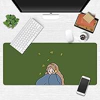活力少女マウスパッド超ビッグ漫画かわいいライティングクリエイティブガールハートリトルフェアリー日本小さな新鮮なテーブルマット (A8,300*800mm)