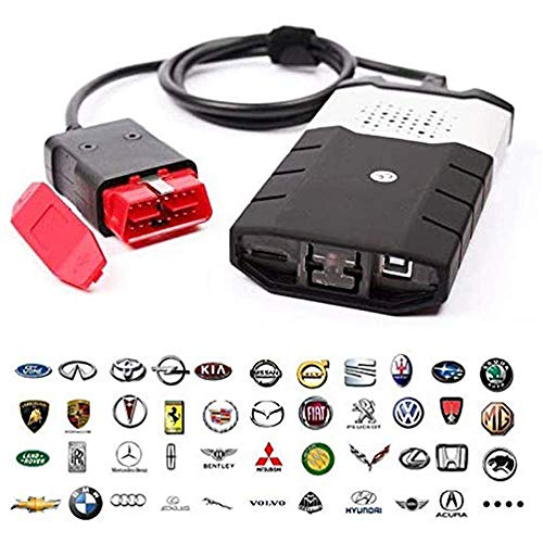 flydragonsuper Diagnostica Auto ABS,Diagnostica Auto Professionale Pc,Obd2 Auto Diagnostica USB,150E TCS CDP OBD2 con Strumento di diagnosi guasti Auto Camion Bluetooth 2016.1,Black