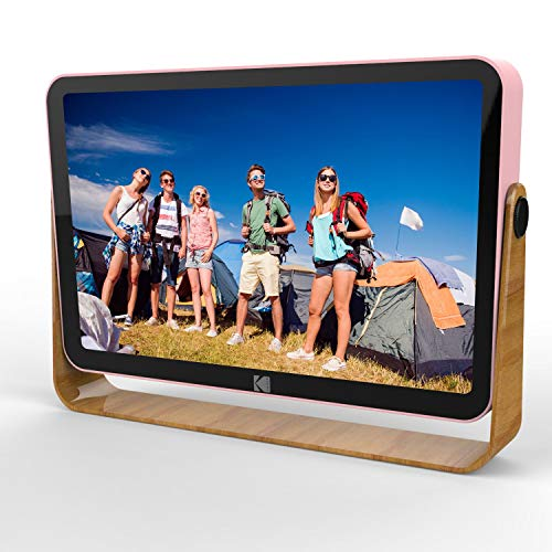 Kodak 10-Inch Smart Touch Screen Rechargeable Digital Picture Frame, Wi-Fi Enabled with HD Photo Display and Music/Video Support, Calendar, Weather and Location Updates (Rose Gold)