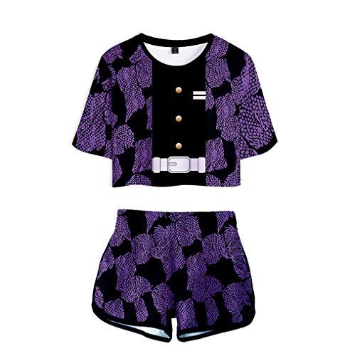 Preisvergleich Produktbild WOONN Shorts und Kurze Ärmel,  Anime-Shorts,  Sport,  Freizeit,  Pyjama