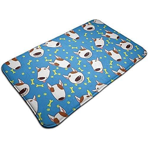Felpudo adorable Bull Terrier alfombra lavable