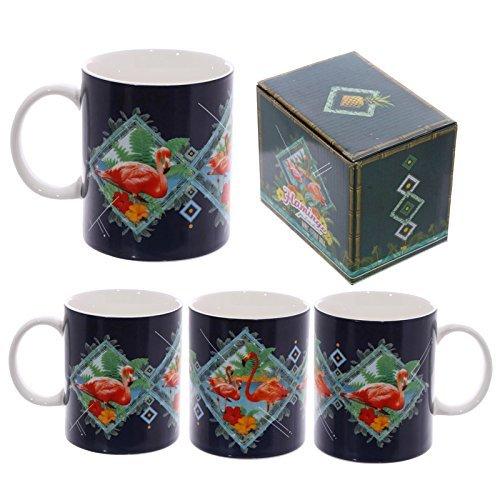 Fun New Bone China mug–Flamingo design by Dochsa