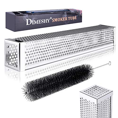"Why Choose DIMESHY Pellet Smoker Tube - 12"" 304 Stainless Steel for Cold or Hot Smoking Wood Pelle..."