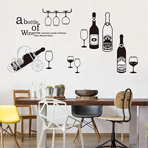 ufengke Pegatinas De Pared Cocina Copas de Vino Tinto Vinilos Adhesivos Pared Champagne Vaso para Dormitorio Salón Oficina Habitación