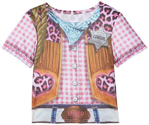Rubie's 2630864L Cowgirl T-shirt Child, kostuum voor kinderen, L