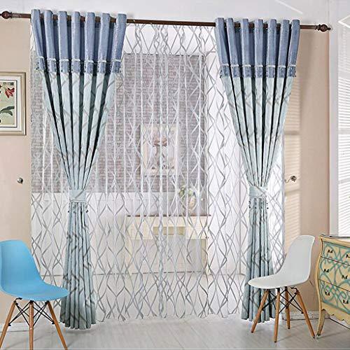 Verduisteringsgordijnen - Blue Chenille Fabrics Gordijnen Zonnescherm Oogje gordijn for Living Room, 250x270cm 411 (Size : 300x270cm)