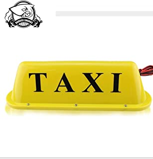 Taxi Cab Roof Top Yellow Illuminated Sign Topper Car 12V CarMagnetic Top Light waterproof