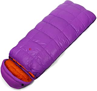 Autumn And Winter Outdoor Camping Climbing Feather Envelope Sleeping Bag Widened 1000 G 90% - 25 Degrees Arabyat (Color : 11)