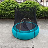 huangjiaxinss Kids Trampoline - Inflatable Trampoline Safety Enclosure Net Combo Bounce Jump for Kids,Outdoor Recreational Trampoline for Kids Aged 2 - 8 Years Old