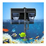 TARARIUM Aquarium Power Filter with Surface Skimmer Silent Hang on Back Fish Tank Filter Multi-Filtration Up to 55 Gallon for Saltwater& Freshwater 158GPH Large Tank Filter System (HBL701-Filter)