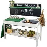Meppi Matschküche Kleiner Gärtner Weiss / grün Outdoorküche aus Holz -...
