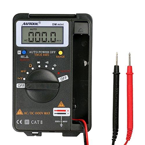 AUTOOL Mini Tasca Digitale Multimetro Voltmetro Amperometro Tester Resistenza Ohm Volt Amp Valutare 4000 Compte Automatico Gamma Range CATII