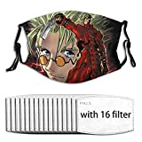 Masks-Trigun The Anime Adjustable Anti Dust Reusable for Men Women with 16 Filter One Size