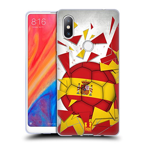 Head Case Designs España Saltos de Fútbol Carcasa de Gel de Silicona Compatible con Xiaomi Mi Mix 2S