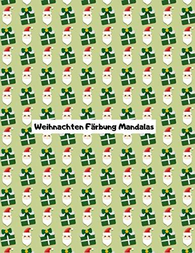 Weihnachten Färbung Mandalas: Malbuch   Weihnachten Mandala   Weihnachten Färbung   Deckung 2