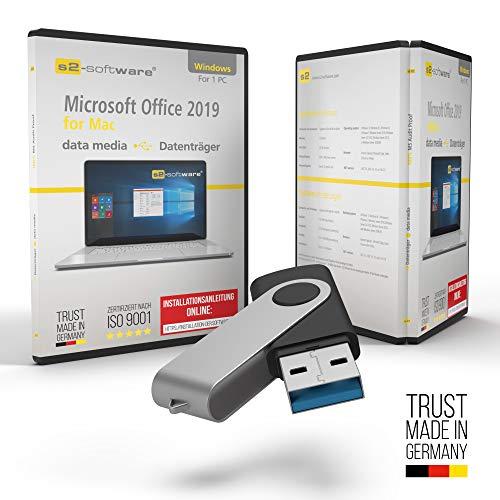Office 2019 Standard for Mac – USB Stick mit Aktivierungsschlüssel und inkl. aller aktuellen Updates + persönliche Installationshilfe von s2-software