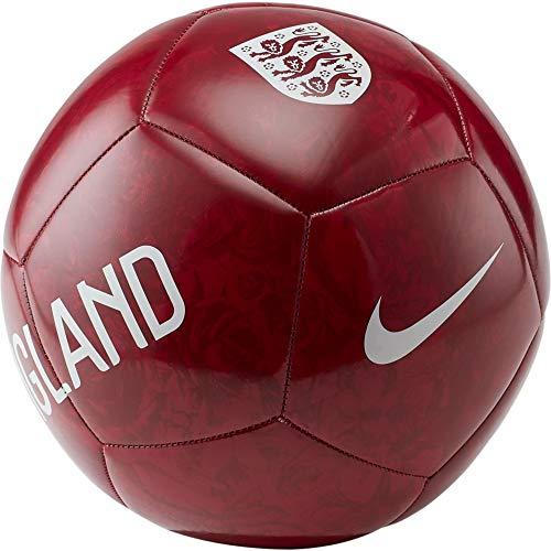 Nike England Pitch Football - Balón de fútbol, talla 5, color rojo