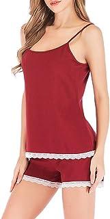 ملابس نوم نسائية ANCHOVY ملابس داخلية من الدانتيل طقم قابل للتعديل بحزام كامي شورت للنوم P13