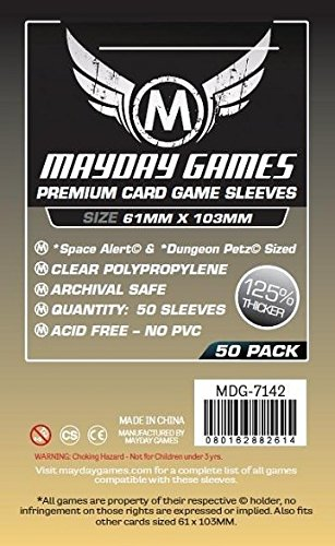 50 Mayday 61 x 103 Space Alert & Dungeon Petz Premium Card Sleeves Board Game - Brettspiel Hüllen