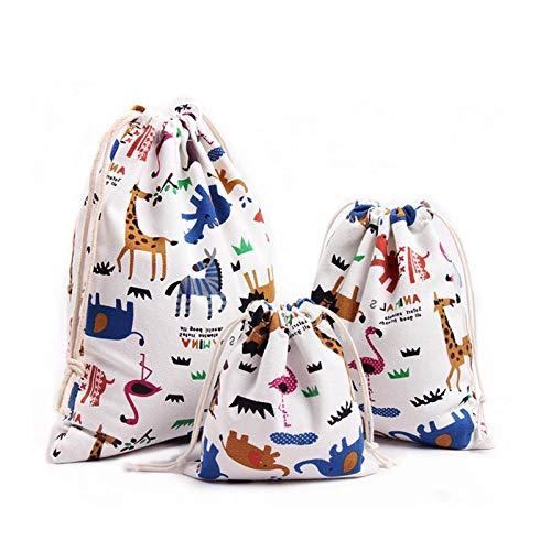 YuuHeeER Bolsa de almacenamiento para ropa interior, accesorios para el hogar, bolsa de almacenamiento blanca para bebé, 4 piezas