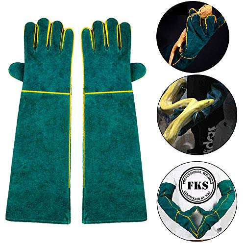 AUOKER Dierhandschoenen Bijtbestendig, Duurzame Bijtbestendige Handschoenen voor Zwemmen, Verzorging, Handling Dog/Cat/Vogel/Slang/Papegaai/Hap/Reptiel - Scratch/Bite Resistant Protection Handschoenen