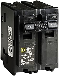Square D by Schneider Electric HOM215CP Homeline 15 Amp Two-Pole Circuit Breaker