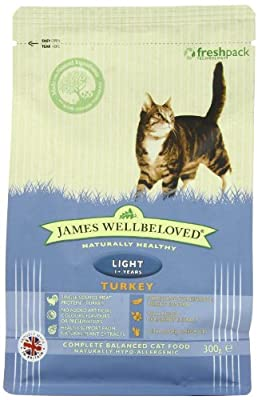 James Wellbeloved Turkey and Rice Light Dry Cat Food 1.5 Kg