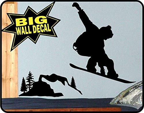 Wandaufkleber, dekorativer Snowboard-Aufkleber, Wandbild für Schlafzimmer, Burton, Snowboarden, Decor, Burton, Snowboard-Aufkleber, 96,5 x 114,3 cm, Vinyl-Wandbild