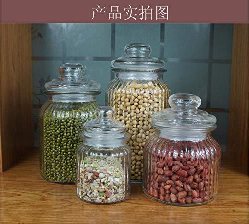 Lghoen suikerpotje kandissuiker bewaarkom recht glazen glas zegelglas voorraadpot spaarpot voorraadpot voorraadpot