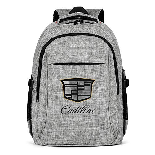 HYMANWASQHFT Laptop Best Backpack Cadillac-Distressed-dealership- Extra School Bookbags with USB Port Cool