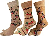 RC. ROYAL CLASS Women's Warm Terry Wool Thick Thumb Socks (Beige, Free Size)