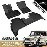 3D MAXpider para Mercedes-Benz Clase G W463 2018-2020, Aptas para Todas Las Condiciones Climáticas, Alfombrillas de Goma de Coche (Juego de Alfombras, Color Negro)