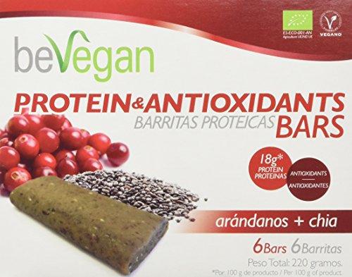 beVegan Protein Bars Arándanos y Chía - 220 gr