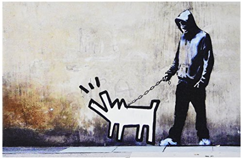 iCanvasART Banksy Choose Your Weapon Keith Haring Dog Canvas...