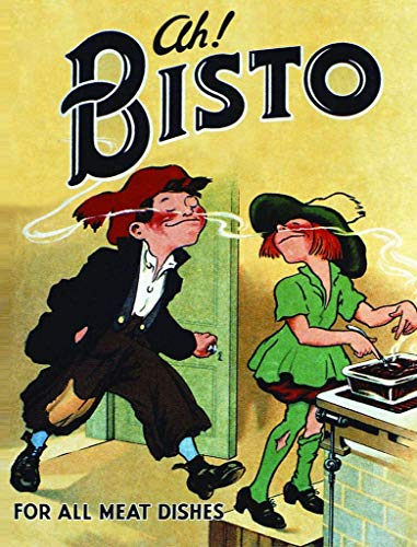 Novelty Retro Vintage Wall tin Plaque 20x15cm - Ideal for Pub shed Bar Office Man Cave Home Bedroom Dining Room Kitchen Gift - Bisto Gravy Advert Advertising Meal Dinner Metal Sign