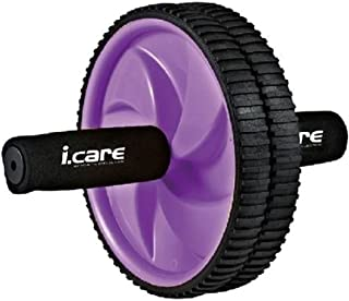 """Joerex"""" I. CARE"""" Exercise Wheel Abdominal Double Wheel By Hirmoz, Dual Ab Roller Body Workout Gym Fitness Equipment - Purple"""