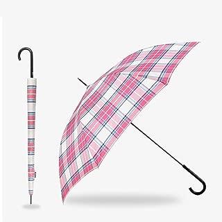 Crutches Umbrella Portable Umbrella Sun Umbrella Weatherproof Umbrella Long Handle Umbrella ZHYGDQ (Color : Pink)