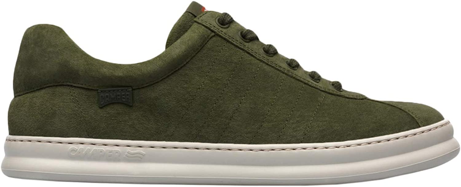 Camper Mens Runner Four Peggy Kiwi Green Suede Leather Trainers