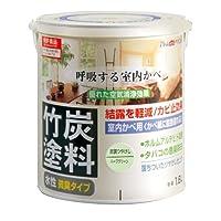 アトムハウスペイント 水性竹炭塗料 1.6L 炭調ハーブグリーン