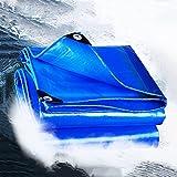 MDCG Impermeable Lona alquitranada 240g / ㎡ Espesar Proteccion Solar Aislamiento Paño de Sombra Casa Carga Ocluir Varios Edificios camión Paño Impermeable linóleo (Color : Blue, Size : 3.9m x 4.9m)