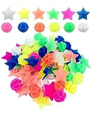 CKANDAY 210 stuks fietswiel spaken kralen, kleurrijke fietsversiering spaak plastic clip ronde decorkralen voor kinderen, diverse kleuren en vormen