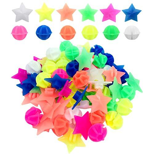 CKANDAY 210 Stück Fahrradrad Speichen Perlen, Bunte Fahrraddekoration Speichen Kunststoff Clip runde Dekor Perlen für Kinder, Formen