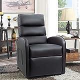 hanzeni Sillón reclinable de Cuero de PU para el hogar, sillón reclinable de elevación eléctrica, sofá para Ancianos, sillón clásico con Respaldo Alto y cojín Grueso